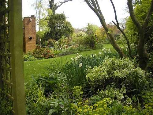 April in the back garden