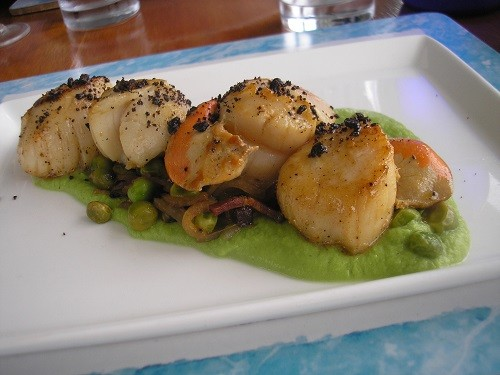 West Bay scallops.