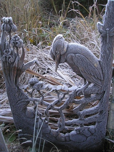 Pond gate in frost