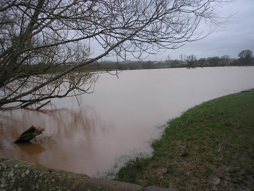 Flooding at Clyst St. Mary.