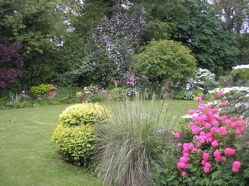 View across the circular lawn.