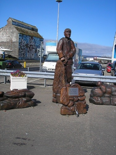 Carvings to honour those lost at sea.