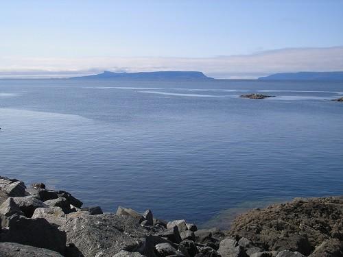 The Island of Rhum, just off the coast.