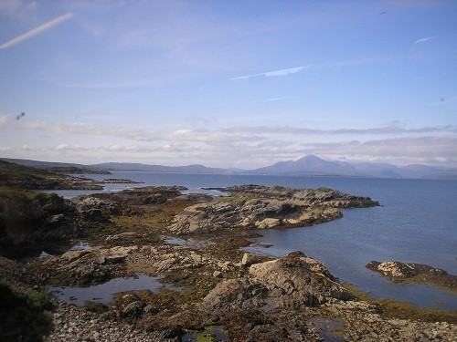 The Isle of Skye in the distance.