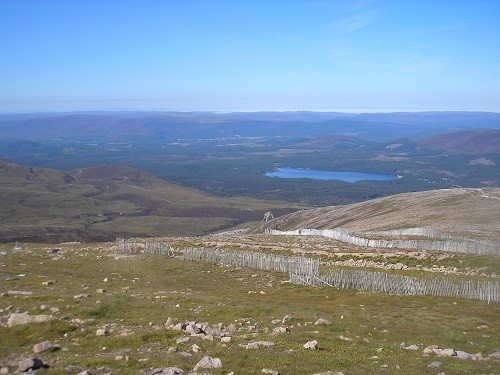 View from the top of Cairngorm Mountain.