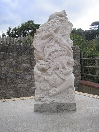Limestone carving